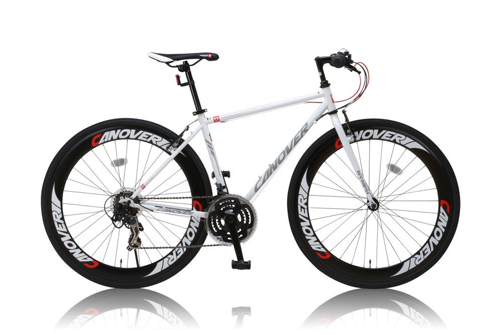 CANOVER(カノーバー) クロスバイク 700C シマノ21段変速 CAC-025 (NYMPH) LEDライト 1年保証 B07DWMVQJWホワイト