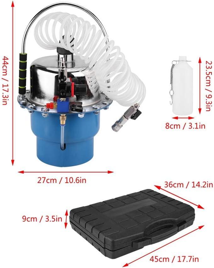 Qiilu Pneumatic Air Pressure Bleeder Tool Set Brake and Clutch Bleeder Valve System Kit w//Case