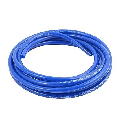 sourcingmap® Manguera de Pu Neumática de Aire Del Compresor de Tubo de Aire Azul de