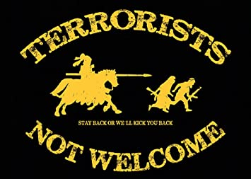 Aufkleber Sticker Terrorists Not Welcome Sticker Set 10 Stück