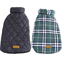 Kuoser Cozy Waterproof Windproof Reversible British Style Plaid Dog Vest Winter Coat Warm…