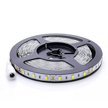 SODIAL(R) Super Bright Flexible 5M 14.4W/Meter SMD 5630 300 Leds IP20 Non-waterproof Daylight White(6000-6500K) LED Strip Ribbon - - Amazon.com