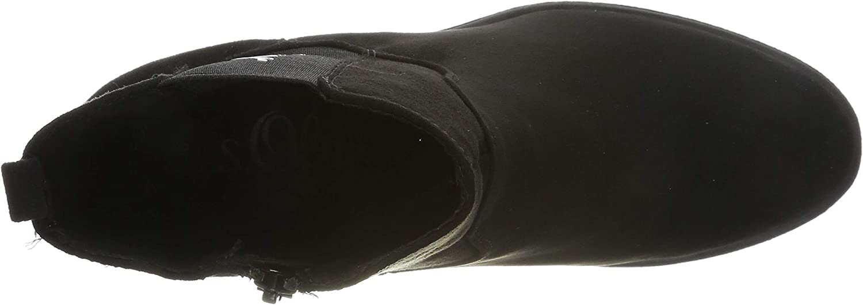 s.Oliver 5-5-25413-23 001, Botines para Mujer Negro Black 001 QJBZ1