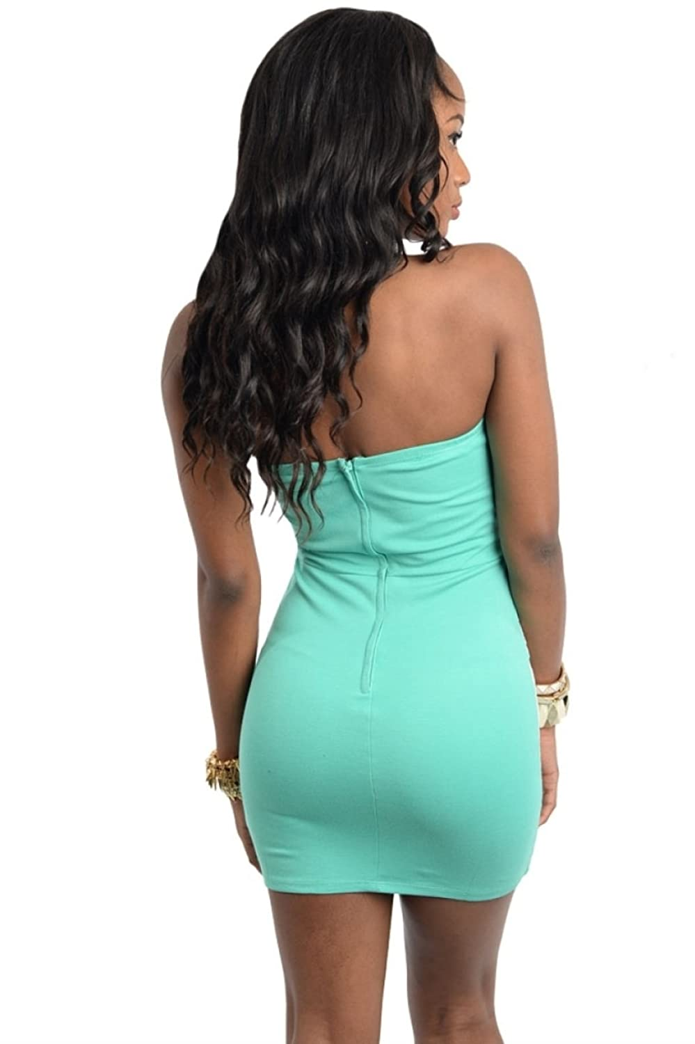 2LUV Women's Strapless Lace Front Bodycon Dress