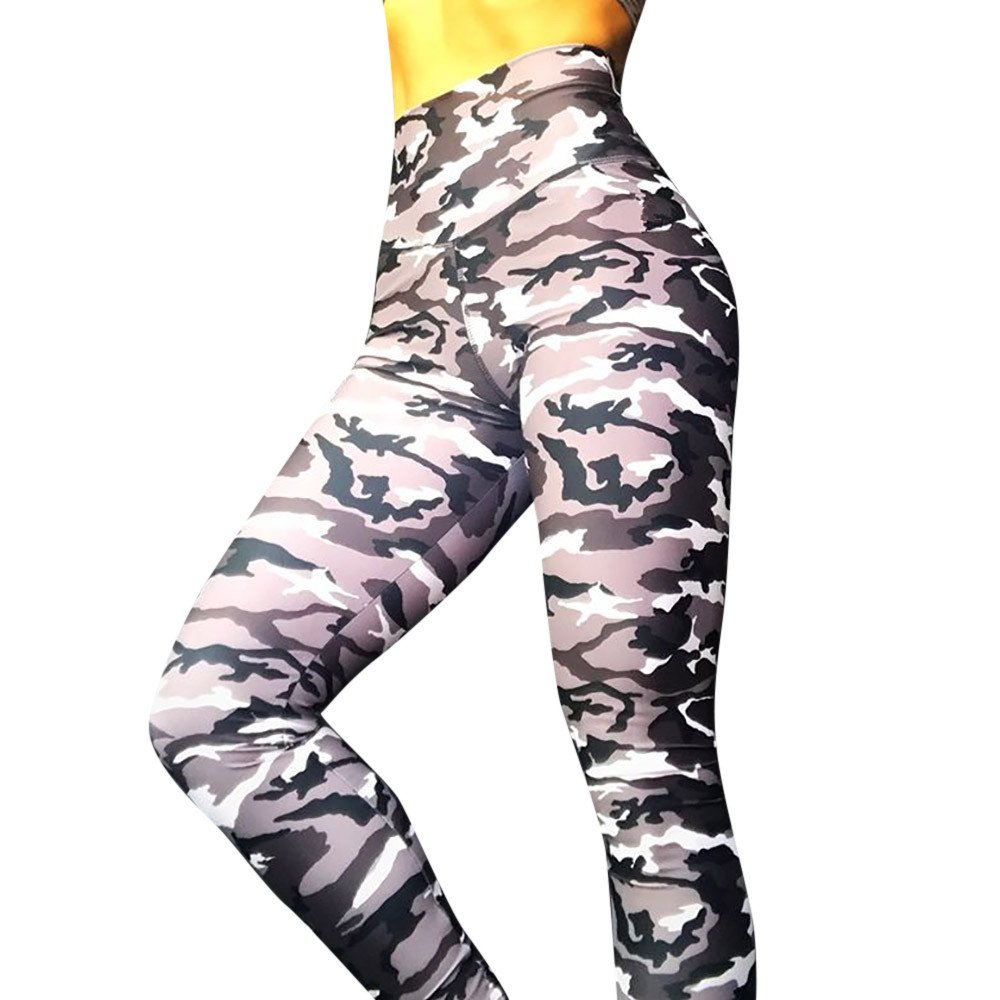 Xavigio_Women Leggings Women's High Waist Camo Yoga Pants Butt Lifting Tummy Control Workout Running Tights