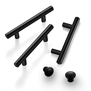 Ravinte 10 Pcs Handles 25pcs Round Knobs Kitchen Cabinet Handles Matte Black Cabinet Pulls Black Drawer Pulls Kitchen Cabinet Hardware Kitchen Handles For Cabinets Cupboard Handles Drawer Handles Amazon In Home Improvement