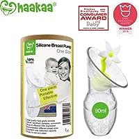 Haakaa - Bomba manual para el pecho con tapón de flor