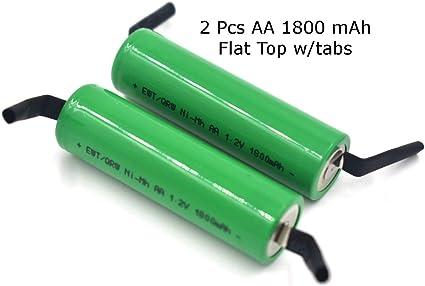Nimh - Batería para afeitadora (2 unidades, 1,2 V, AA, 1800 mAh ...