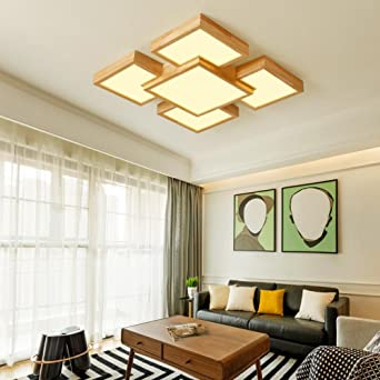 Lozse Dünne Holzdecke Wohnzimmer Leuchten LED-Deckenleuchte ...