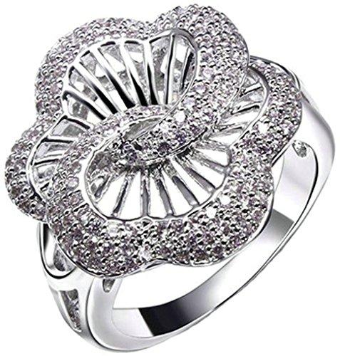 Women's Ring Gold Plated Flower White Zi - Cat Eye 10k Ring Shopping Results