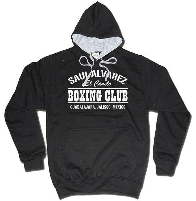 Saul Alvarez Boxing Club México gimnasio MP3 sudadera con capucha negro de Dibbs: Amazon.es: Ropa y accesorios