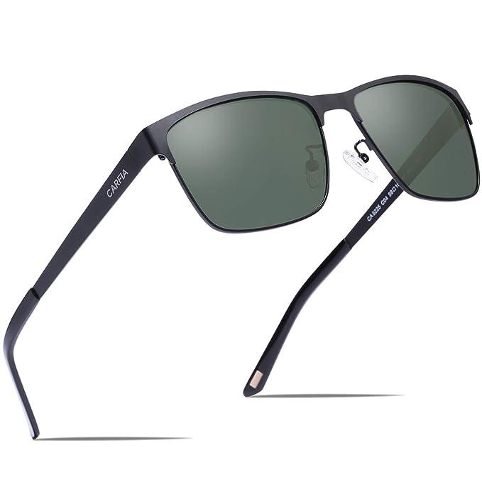 Amazon.com: Carfia anteojos de sol polarizados, anteojos de ...