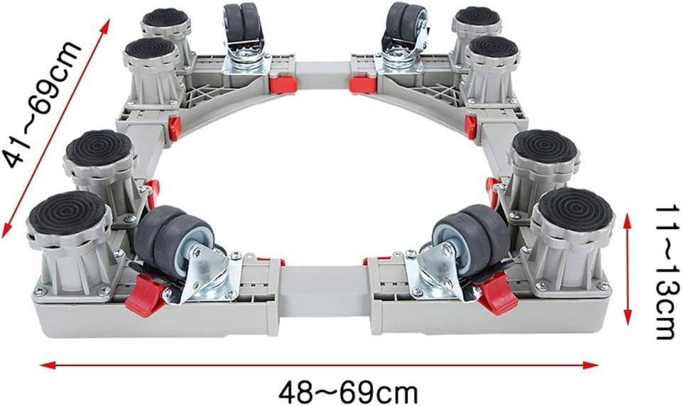 RTTzw Estante de la Lavadora Multi-Funcional Base Ajustable, Estante móvil for la Lavadora de Tambor, Estante móvil con Ruedas universales, tendedero for Lavadora (Size : B)