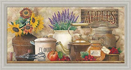 Antique Kitchen By Ed Wargo Country Kitchen Décor 20x11 Wall Art Print  Framed Picture