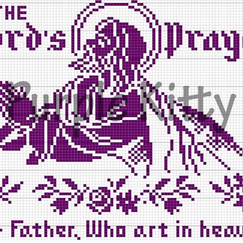 The Lord's Prayer Filet Crochet Pattern #703 Vintage Mail Order