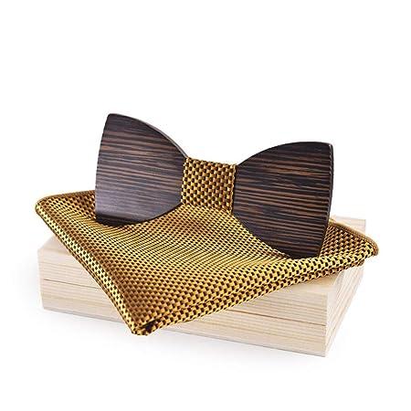 Wuxingqing Corbata de Lazo de Madera para Hombre Traje de Corbata ...