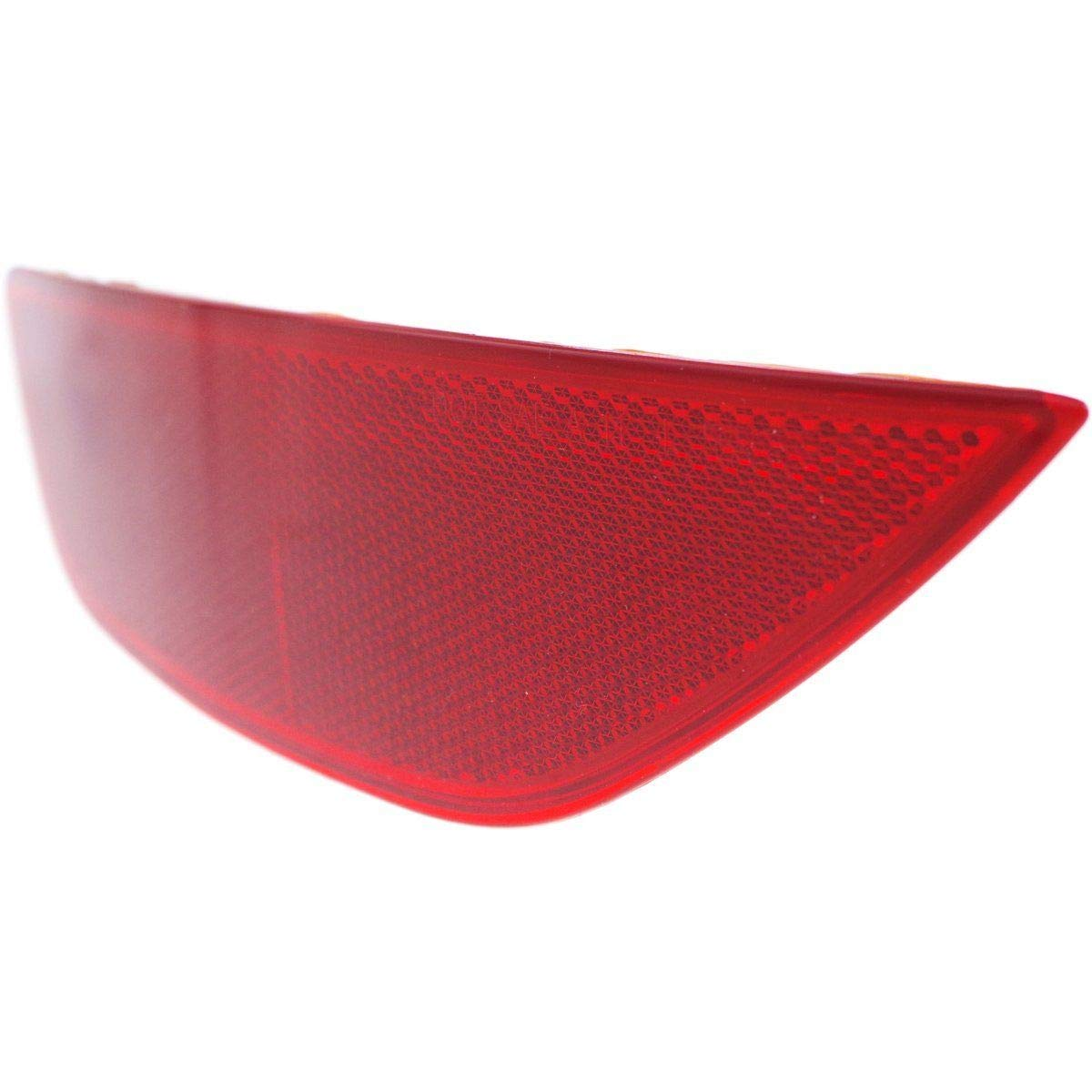 New Rear Left Driver Side Bumper Reflector For 2011-2017 Ford Fiesta (14-17 W/Or Without Body Kit), (Exc. St Model), Hatchback FO1184107