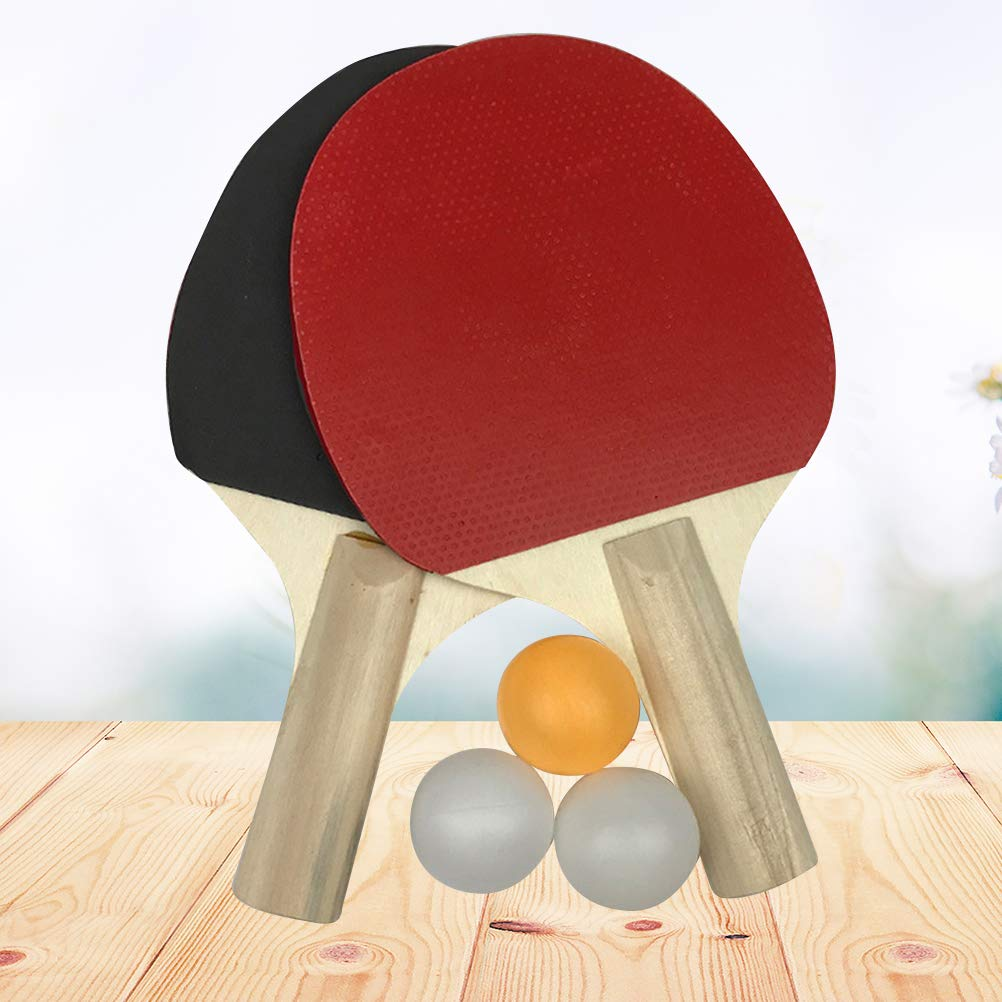 LIOOBO Raqueta de Tenis de Mesa de Goma para Principiantes Entrenamiento de Ping-Pong Juego de Raquetas de Tenis de Mesa