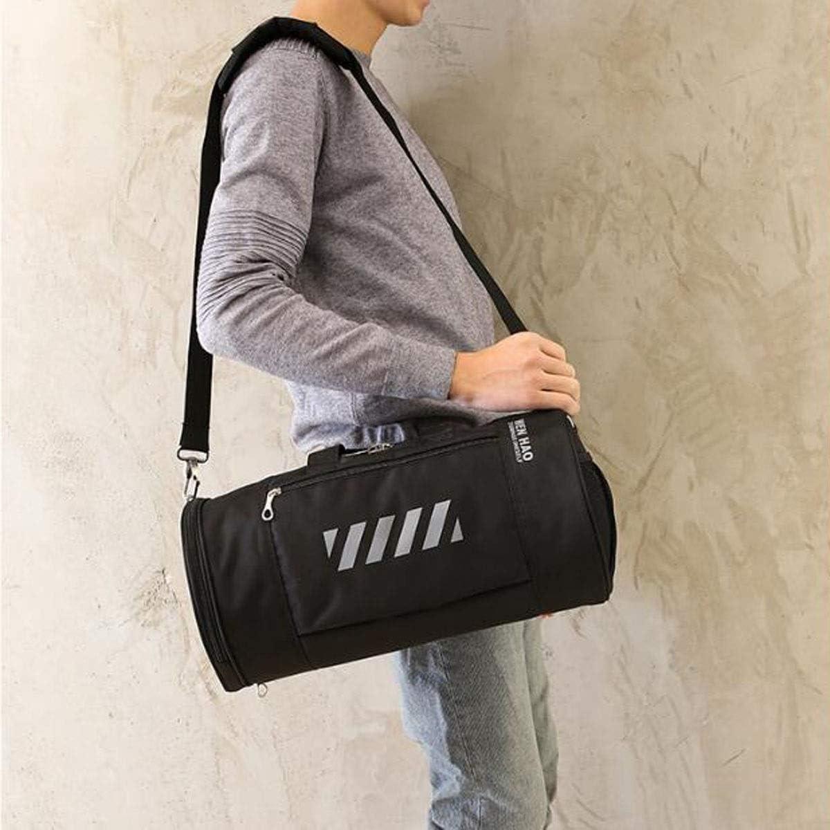 Large Size: 482626cm Travel Du Large-Capacity Fitness Bag Korean Cylinder Bag Fitness Short-Distance Travel Bag Etc ZHICHUANG Duffel Bag Travel Portable Yoga Bag Suitable for Business Trip