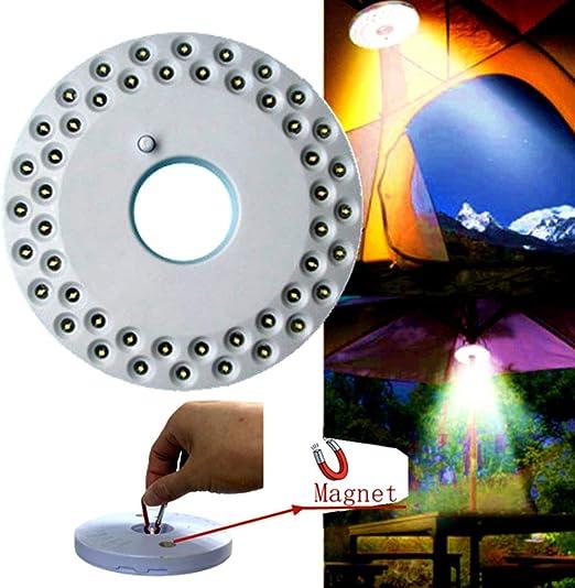 Borstu Lámpara de Paraguas LED 48LEDs Iluminación de Parasol súper Brillante Luz de jardín inalámbrica para barbacoas, cenas al Aire Libre, Juegos de Cartas: Amazon.es: Hogar