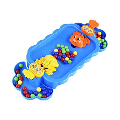 Tekijun Hungry Frog Game Feeding, Frogs Swallowing Beads Feeding Eating Beans Brainboard Game Educational Toy: Toys & Games