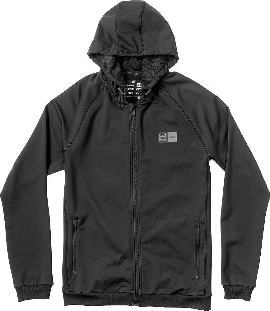 RVCA Men's Bj Trainer Hood, Black, Small: Clothing