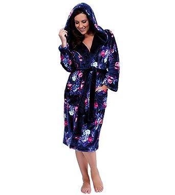 29fdfa2b1b807 Lady Olga - Robe de chambre - Femme - bleu - 50-52: Amazon.fr ...