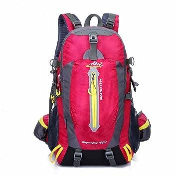 AllureFeng Mochila de deportes al aire libre de 40 litros mochilas viaje senderismo camping mochila escolar , rose red: Amazon.es: Deportes y aire libre
