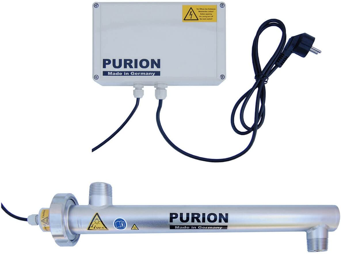 Acondicionador de agua PURION 1000 sistema de desinfección de filtros UV sistema de agua 17W 1.000 l/h