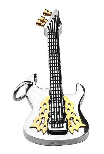 De acero inoxidable colgante de música guitarra eléctrica e Guitarra Rock de Hombre Joyas hombre nuevo: Amazon.es: Joyería