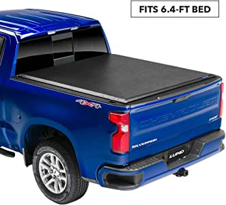 "Lund Genesis Roll Up Soft Roll Up Truck Bed Tonneau Cover | 96064 | Fits 2009-2018, 19/20 Classic Ram 1500-3500 6' 4"" Bed"