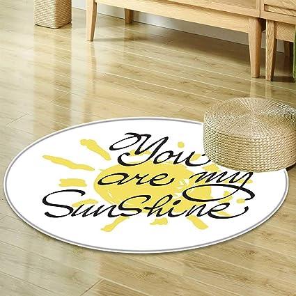 Amazon Mikihome Round Rug Kid Carpet Quotes Decor Valentine Cool Valentine Day Romantic Quotes