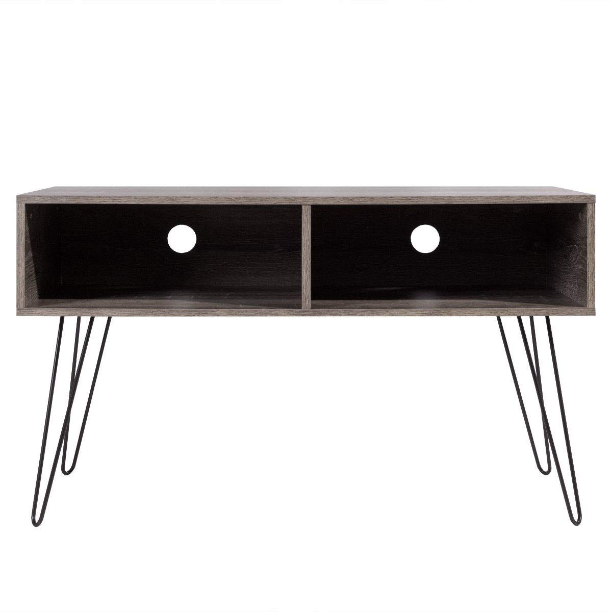 KING77777 Retro and Modern Design Style 42'' TV Stand Wood Media Console with Sturdy Metal Hairpin Legs by KING77777 (Image #2)