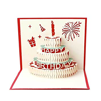 Magnificent Postcard Greetings Card 3D Pop Up Origami Kirigami Amazon Co Uk Funny Birthday Cards Online Alyptdamsfinfo