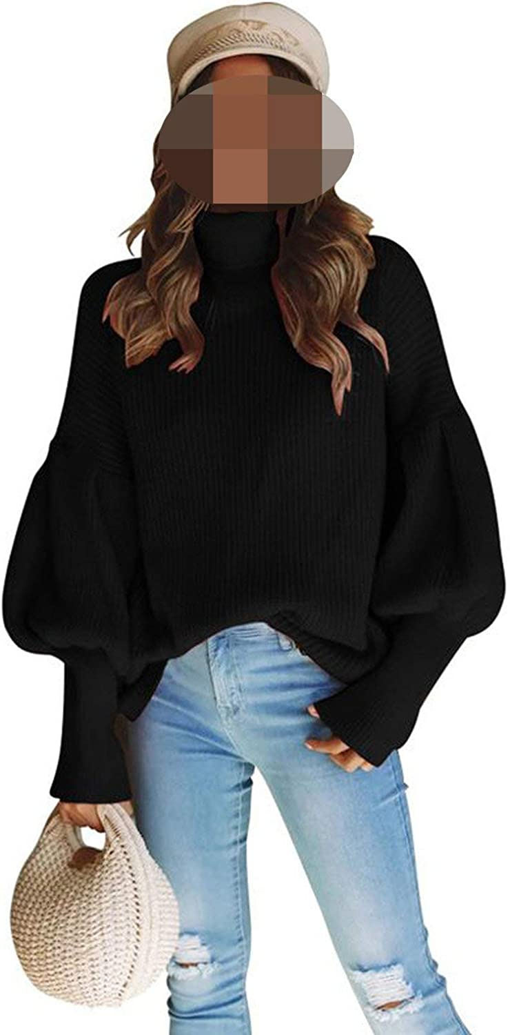 Oversized Knitted Pullovers Streetwear Long Sleeve Turtleneck Thickened Sweater Jumper SW166