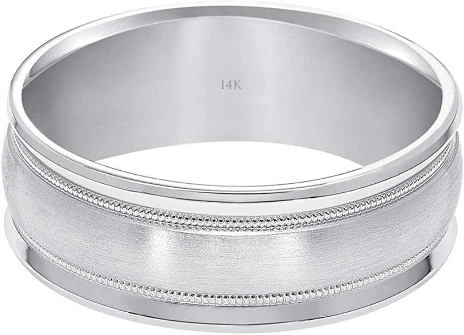 Beveled Edge Comfort Fit Tungsten Carbide Anniversary Ring TosowebOnline Mens 8mm Polished Finish with Black Diagonal Grooves Center