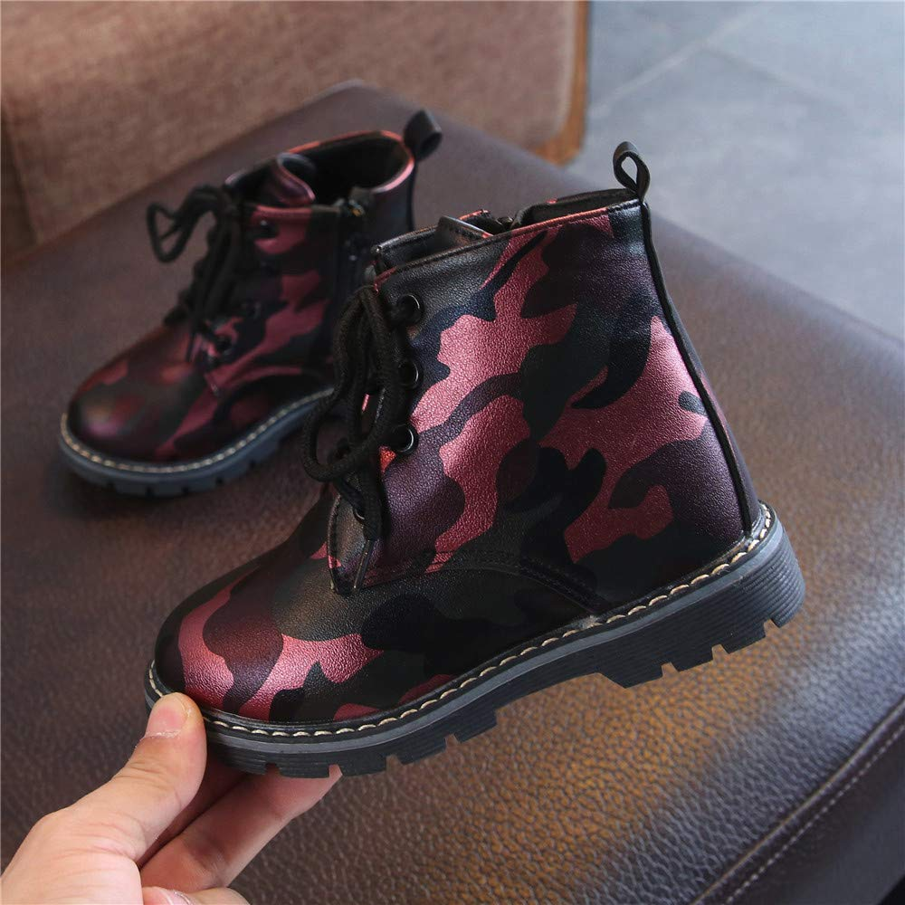 Children Boys Casual Camouflage Martin Sneaker Boots,Outsta Solid Color Boots Kids Snow Baby Shoes