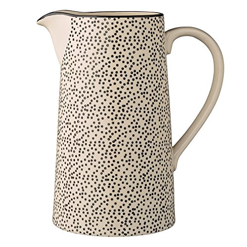 Bloomingville Ceramic Julie Water Pitcher, Multicolor