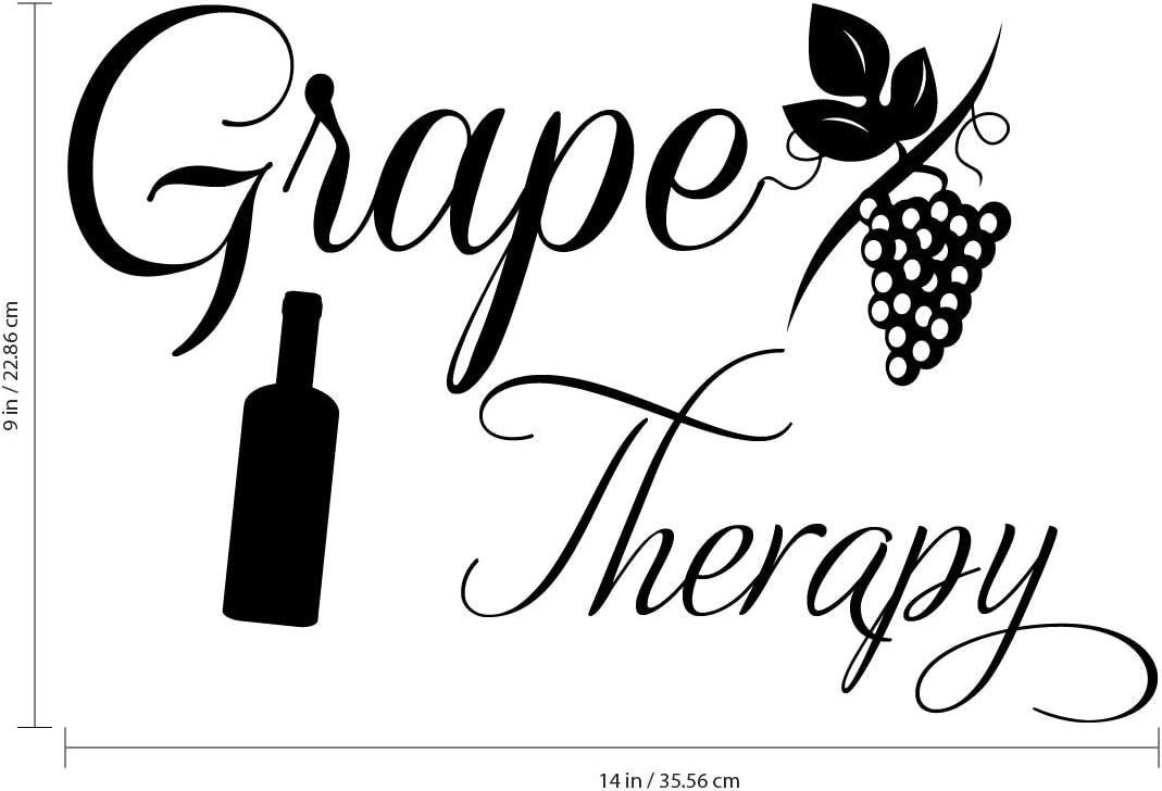 Vineyard Wine Grapes Cheese Wall Sickers Mural Decal 3d Effect Home Shop Office Nursery Decor ZP4