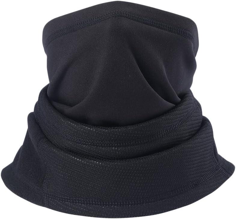 Zhhlinyuan Draussen Sport Adjustable Unisex Black Headscarf Winter Thicken Windproof Warm Multi Use Hat Scarf Mask