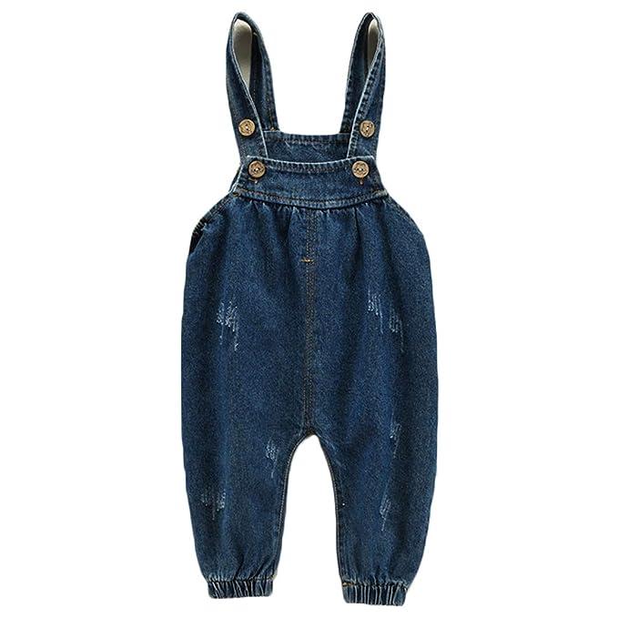 Huicai Ropa para niños Tirantes Pantalones Vaqueros bebé ...