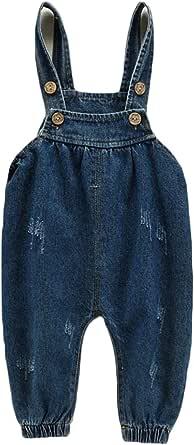 Huicai Ropa para niños Tirantes Pantalones Vaqueros bebé Ocio Pantalones Otoño Niño Pantalones