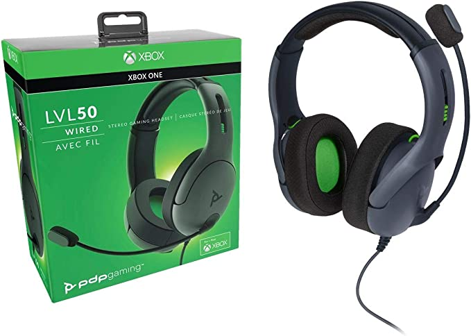 PDP - Auricular Stereo Gaming LVL50 Con Cable, Gris (Xbox One ...
