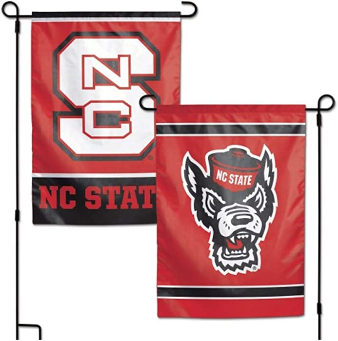 "NCAA North Carolina State NCSU Wolfpack 12.5"" x 18"" Inch 2-Sided Garden Flag Logo"