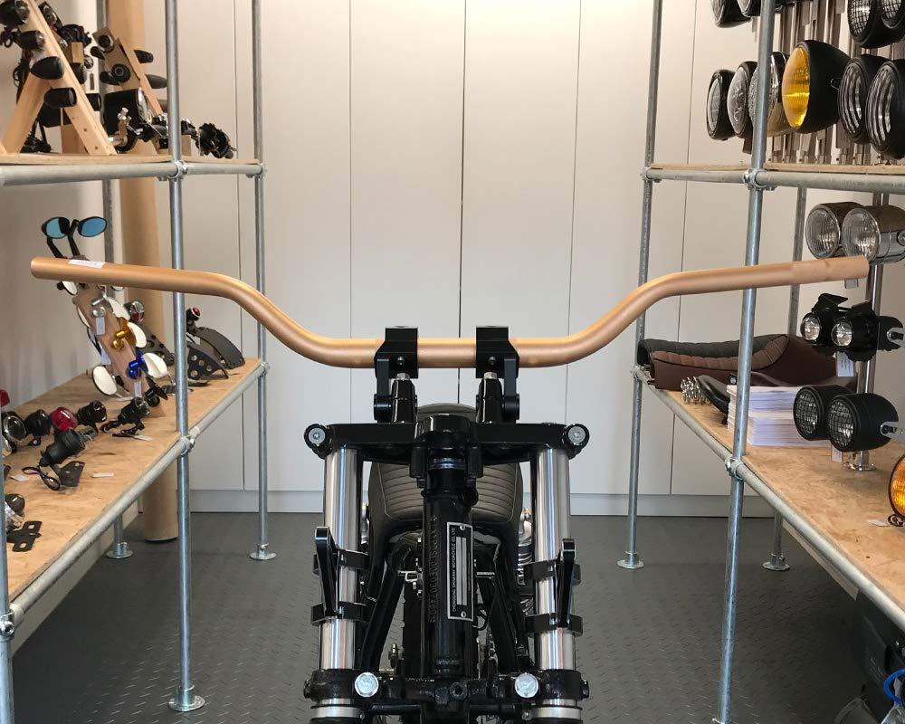 Moto Manillar Barras Gruesas Titanio Aspecto C/ónico 28mm para Motocross Streetfighter Supermoto