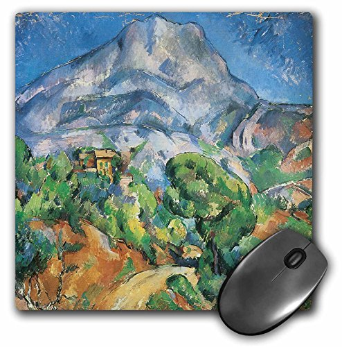 Price comparison product image 3D Rose Monte Saintevictoria Above The Tholonet Road By Paul Cezanne Matte Finish Mouse Pad - 8 x 8 - mp_127319_1