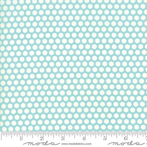 United Notions & Moda Fabrics Basics by Bonnie and Camille Quilt Fabric Aqua Bliss Dot Style 55023/32