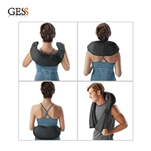 GESS012 Kneading Shiatsu Neck Waist Back Shoulder Infrared Massager
