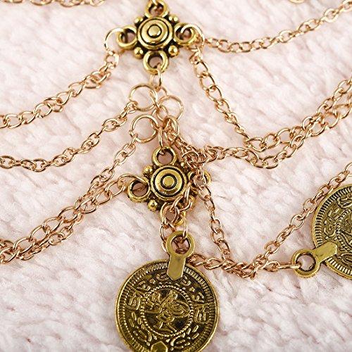 Fuß Dalaran 2 Fußkettchen Münze Sommer Gold Armband Multilayer