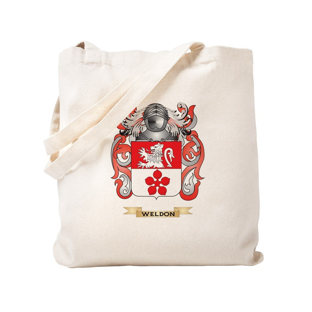 CafePress - Weldon Family Crest (Coat Of Arms) - Natural Canvas Tote Bag, Cloth Shopping Bag